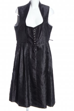 Moser Dirndl hellgrau grafisches Muster Casual-Look