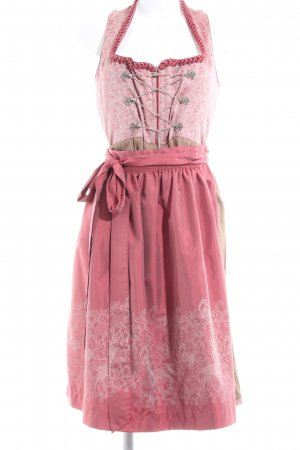 Moser Vestido Dirndl rosa-nude estampado con diseño abstracto estilo clásico