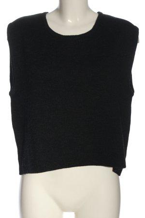 Moses Jersey de lana negro look casual