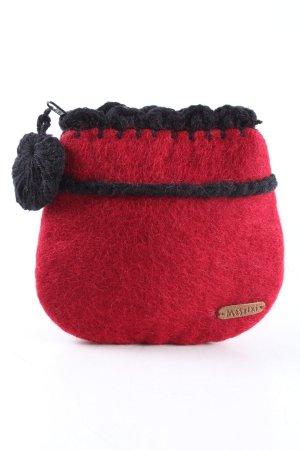 Moshiki Portefeuille rouge-noir style décontracté