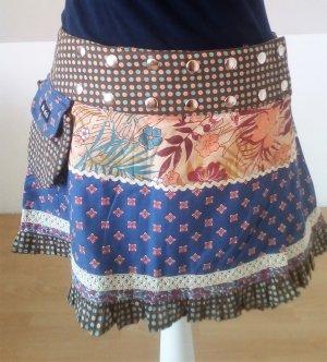 Moshiki Plaid Skirt multicolored cotton