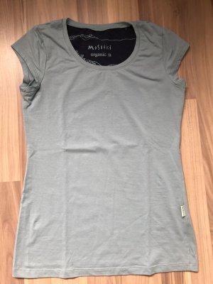 Moshiki T-Shirt Kurzarm rauchblau M 38