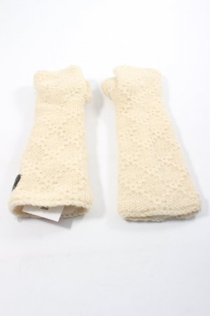 moshiko Fingerless Gloves cream weave pattern casual look