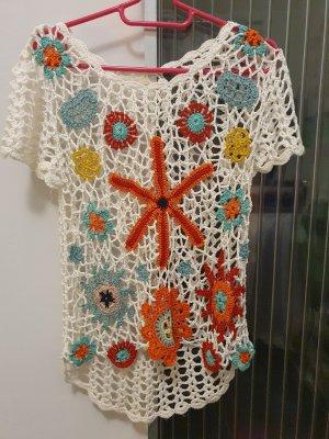 Mosnova Camicia a tunica bianco-arancione