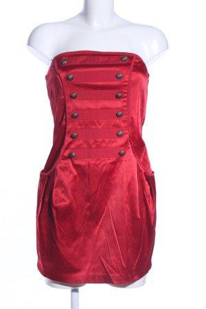Moss 99 Enticement Abito senza spalle rosso stile stravagante