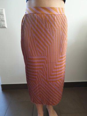 Moss Copenhagen Geplooide rok oker-paars Polyester