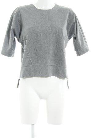 Moss Copenhagen Sweatshirt hellgrau-grau Streifenmuster Casual-Look