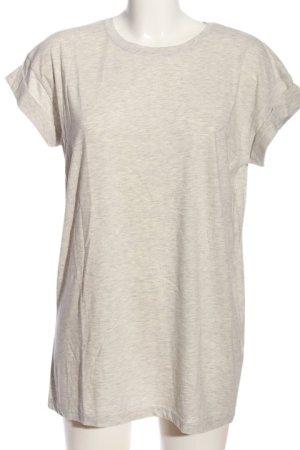 Moss Copenhagen T-Shirt hellgrau meliert Casual-Look