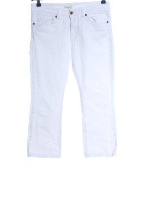 Motel Pantalone a 3/4 bianco stile casual