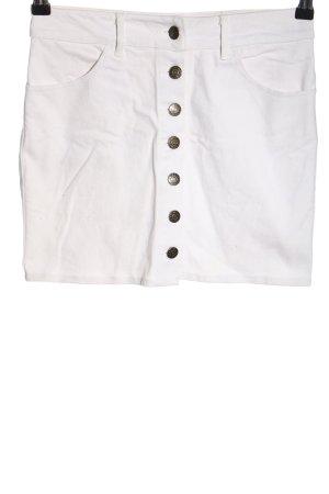 Motel Jupe en jeans blanc style décontracté