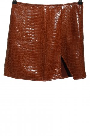 Motel Faux Leather Skirt brown casual look