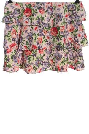 Motel Mini-jupe rose-violet imprimé allover style décontracté