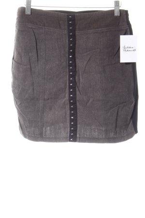 Motel Mini-jupe noir-gris brun moucheté style décontracté