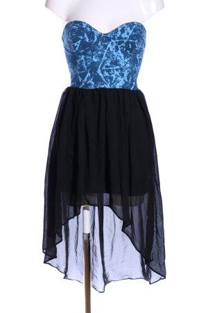 Motel Rocks Robe bustier bleu-noir style festif