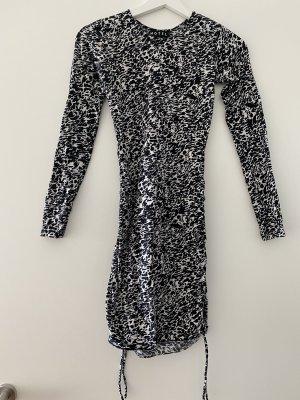 Motel Rocks Longsleeve Dress white-black