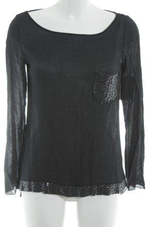 Motel Tunique-blouse noir Ornements pailleté