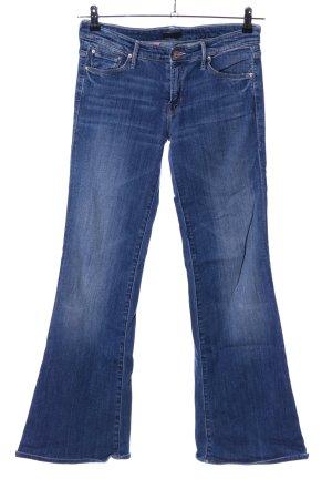 Mother Jeans svasati blu Cotone