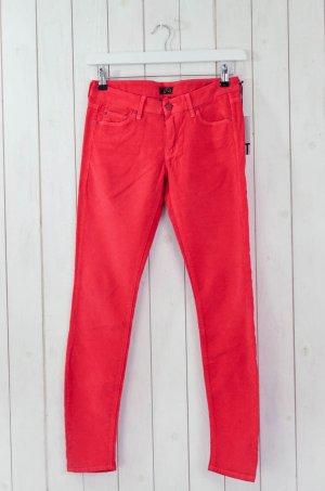 MOTHER Damen Hose Cord Mod.THE Looker Rot Cordrippe Baumwolle Elasthan Gr.27
