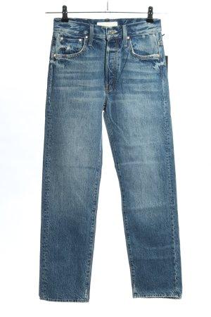 Mother Jeans a vita alta blu stile casual