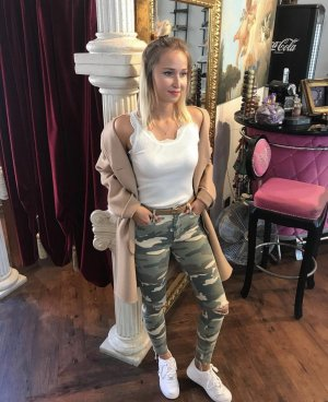 Mother Hoge taille jeans khaki