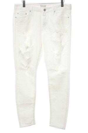 Mother Jeans large blanc cassé style décontracté