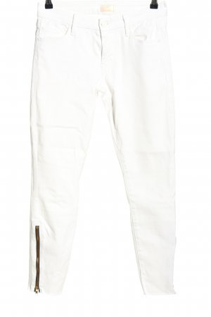 Mother Jeans a sigaretta bianco stile casual