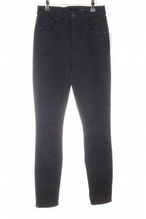 Mother Slim Jeans schwarz Casual-Look