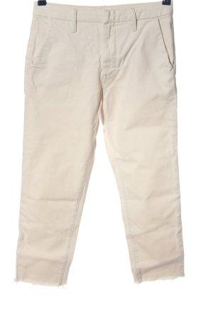 Mother Pantalone jersey bianco sporco stile casual