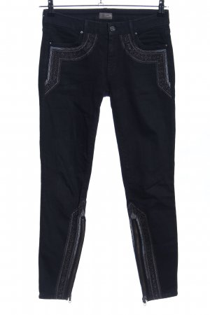 Mother Straight-Leg Jeans schwarz Casual-Look