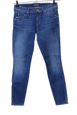 Mother Stretch jeans blauw casual uitstraling