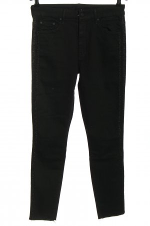 Mother Jeans elasticizzati nero stile casual