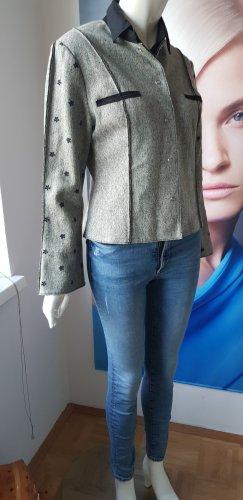 Mothwurf Blazer in lana grigio chiaro-grigio Lana