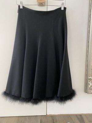 Mothwurf Midi Skirt black mixture fibre
