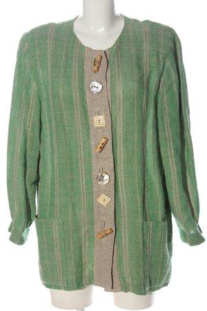 Mothwurf Between-Seasons-Coat green-light grey striped pattern casual look