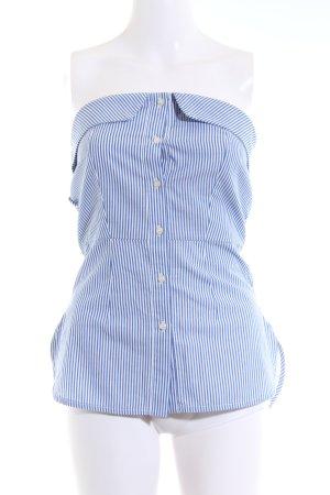 Motivi ärmellose Bluse blau-weiß Allover-Druck Elegant