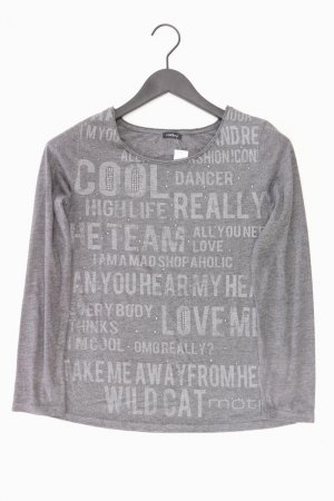 Motivi langarm Shirt grau Größe M