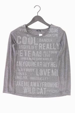 Motivi langarm Shirt Größe M grau
