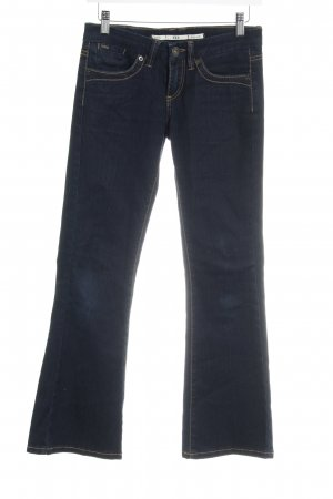 Moto Boot Cut Jeans dunkelblau Casual-Look