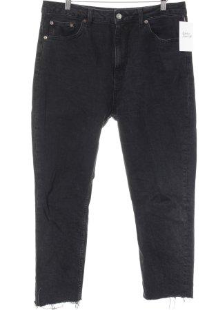 Moto Jeans taille basse noir style décontracté
