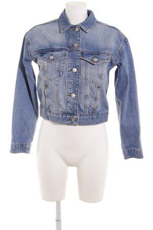 Moto Jeansjacke mehrfarbig Washed-Optik
