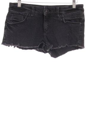 Moto Shorts schwarz-dunkelgrau Casual-Look