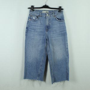 Topshop Moto 3/4 Length Jeans azure cotton