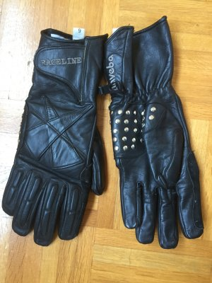 no name Leather Gloves black