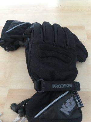 Hipora Rękawiczki skórzane czarny-szary