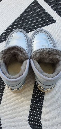 MOU Boots Enkellaarzen zilver Leer