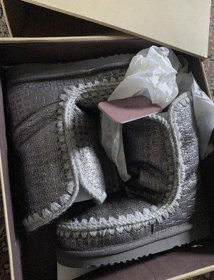 MOU Boots Botas de nieve color plata-gris