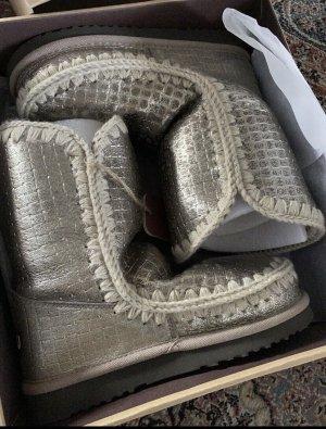 MOU Boots Botas de nieve color oro-crema