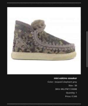 MOU Boots Laarzen met bont grijs-oker