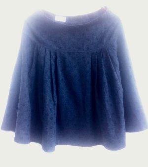 Flared Skirt anthracite wool (merino wool)