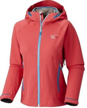Mountain Hard Wear Outdoor Jacket bright red-blue polyamide